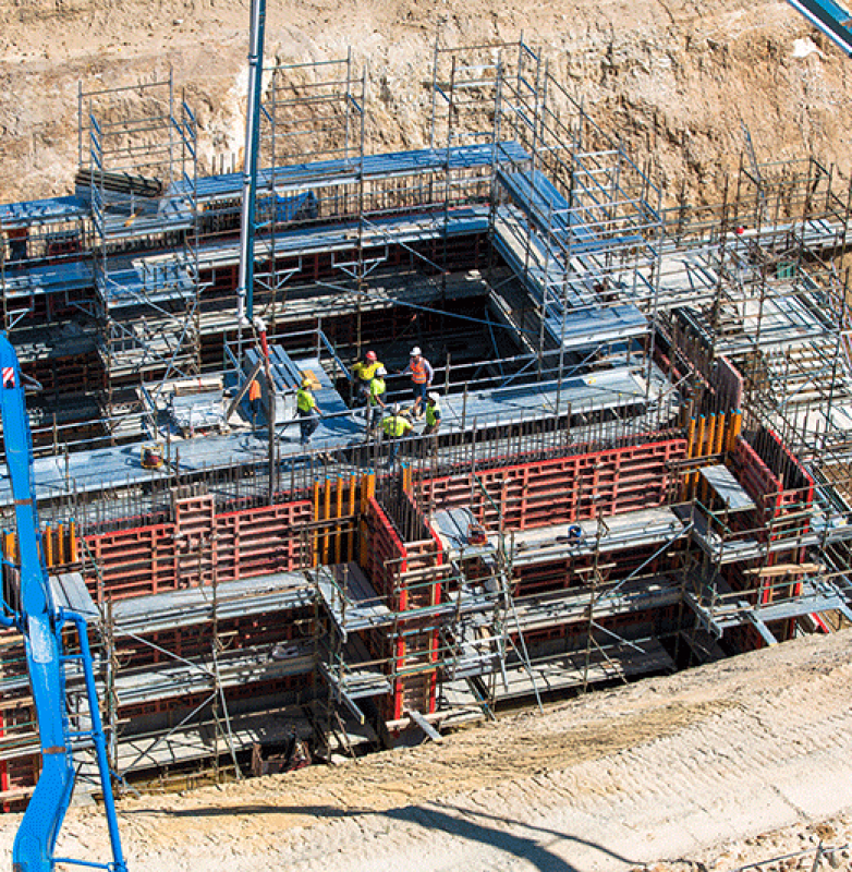 Veolia Woodlaw reception pit construction stage – photograph courtesy Lipman Pty Ltd