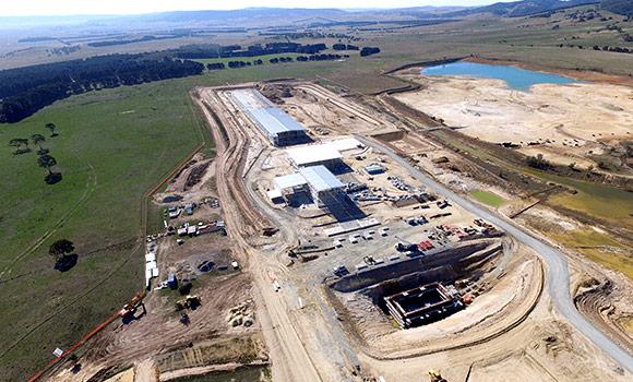 Veolia Woodlawn MBT facility - aerial view Feb 2016