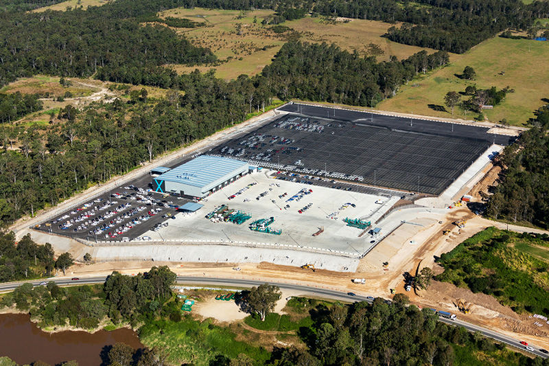 Aerial view of PrixCar Services facility