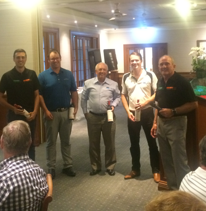 Presentation of 2nd Place: Eriq Parsons, CRC; Geoff Fletcher, JK Group; John Brown, BOSFA; Nathan Sykes, BOSFA; Wayne Costin, CRC