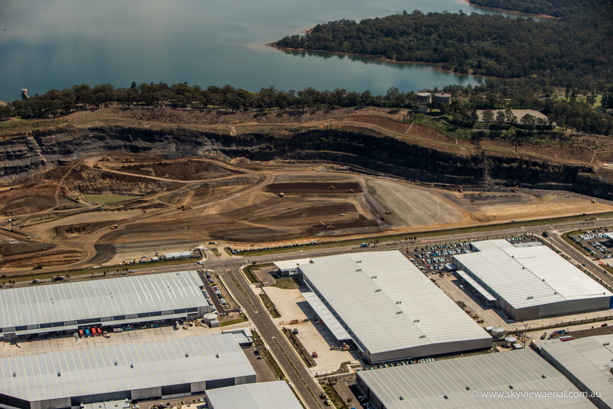 Quarry Greystanes - west aerial view