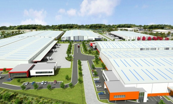 Horsley Drive Business Park, artist's impression of completed development