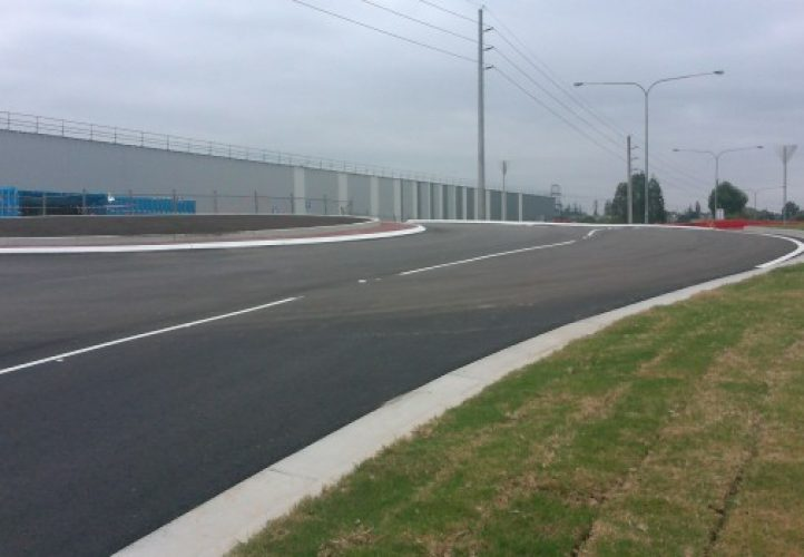 Horsley Drive Business Park, civil engineering, access road