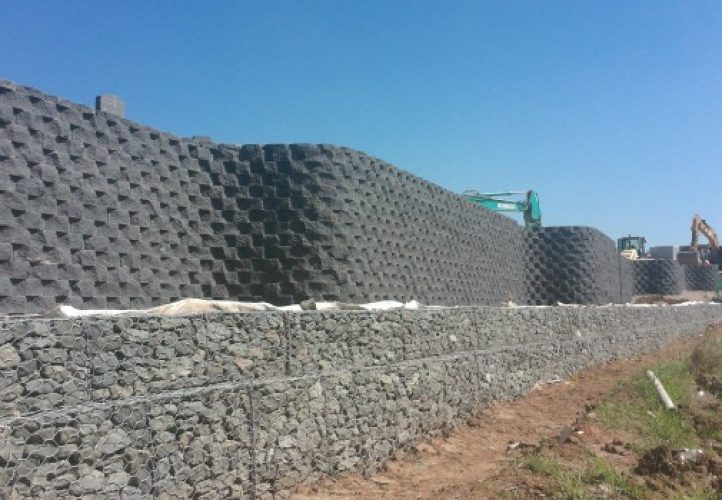 Horsley Drive Business Park, retaining wall