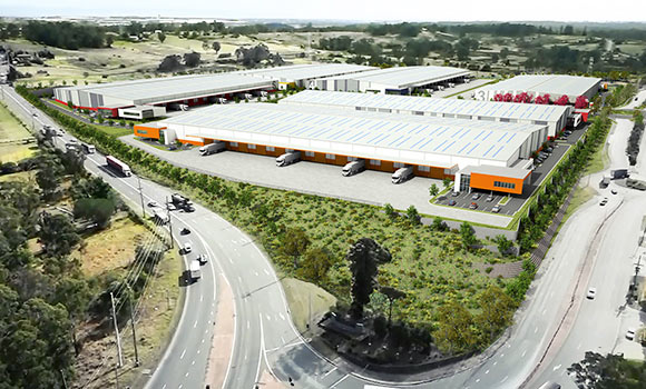 Horsley Drive Business Park aerial view