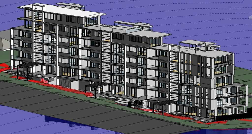 Accent Apartments structural architectural models