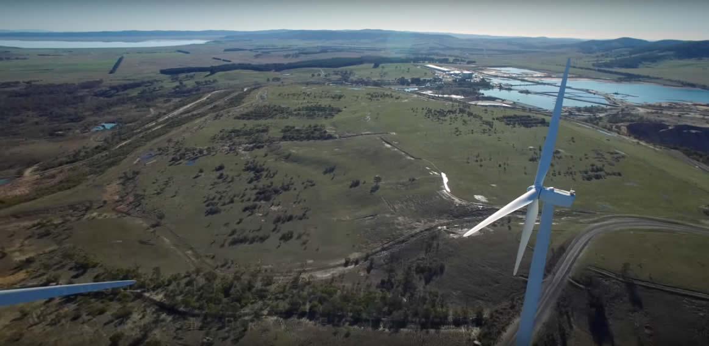 Veolia Woodlawn wind turbines