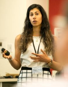 Tanaz Dhondy speaks at the IACRR Workshop 2018.