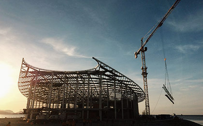 APEC Haus lifting beam designed by Costin Roe Consulting